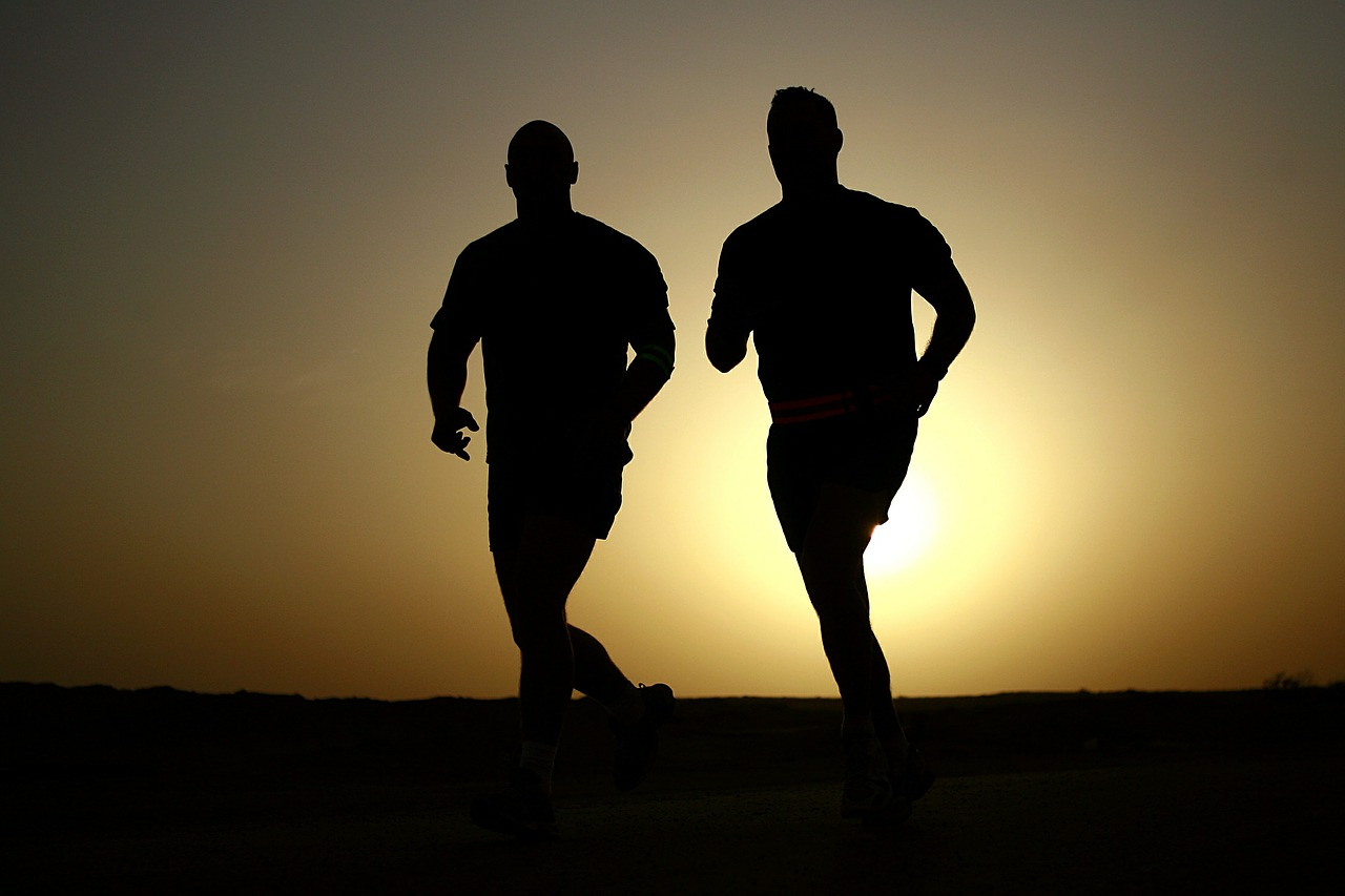 Two Men Running to lose weight